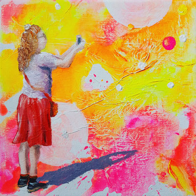 vERKAUFT  Searching for bubbles  20 x 20
