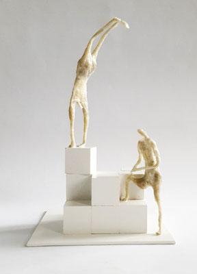 Parkour - Figur 25 cm hoch - Boden 15 x 15 cm