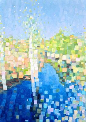 Birch trees 70 x 50 cm 12.04.2021 Oil on canvas
