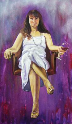 Im Geist des Weines  120 x 70 x 2 cm