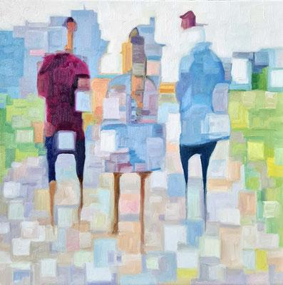 Go for a walk I  50 x 50 x 2 cm  Öl auf Leinwand