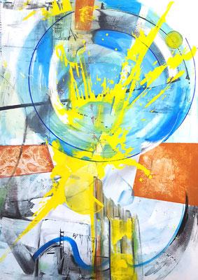 Komposition I  140 x 100x2 cm 10.09.2018