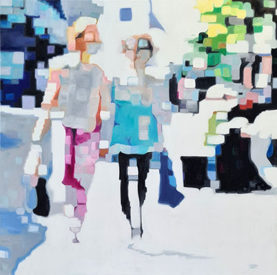 City Peoples II  100 x 100 x 2 cm  Oil on Canvas 30.04.2021