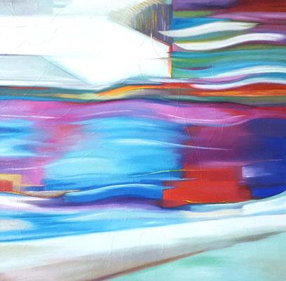 The spirit of movement 100 x 100 x 2  08.05.2020  Ölfarbe auf Lwd