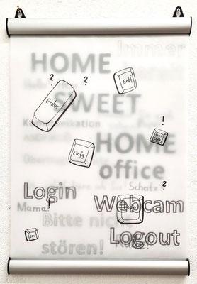 Home office 40 x 30 cm Transparentpapier