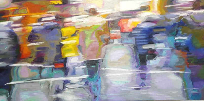 City Lights II 70 x 140 cm 13.01.2020  Ölfarbe auf Lwd