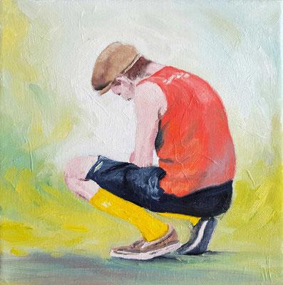 Gelbe Socken  20 x 20 cm