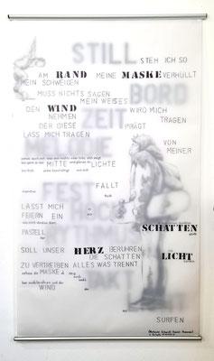 White Board - Transparentpapier ca 70 x 120