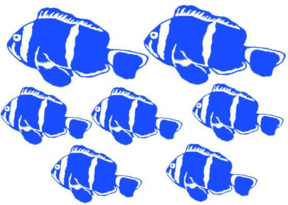 stickers salle de bain, poissons