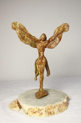 Mogelijk een Engel, brons, 28 cm x 20 cm