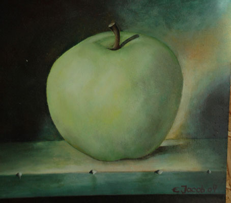 Golden Delicious 30 x 30 cm Oil on Canvas 2009