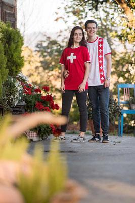 T-Shirt Schweizer Fahne