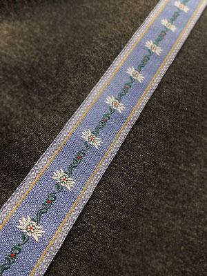 Edelweiss Stoff blau