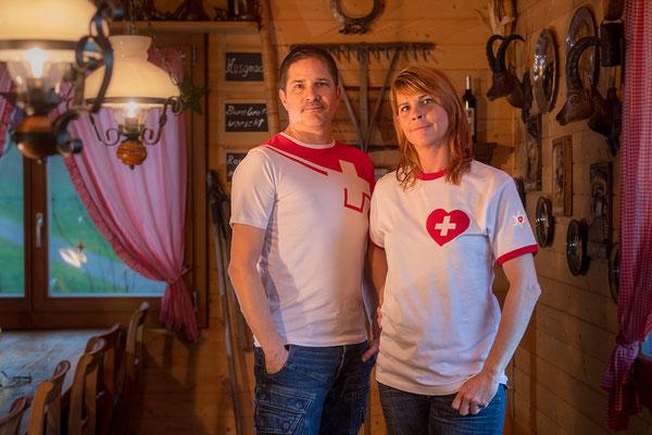 T-Shirt verliebt in die Schweiz