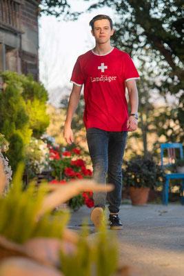 T-Shirt Schweizerflagge Landjäger