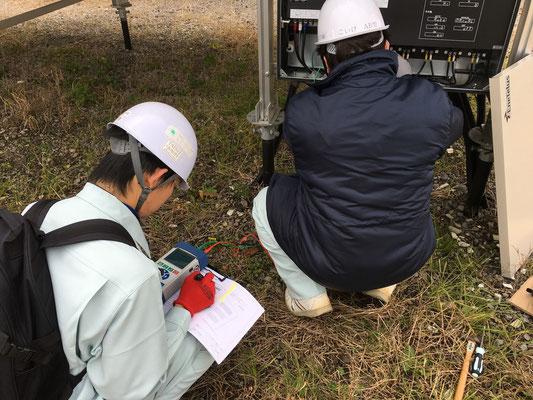 第二発電所でのモジュールIVカーブ測定