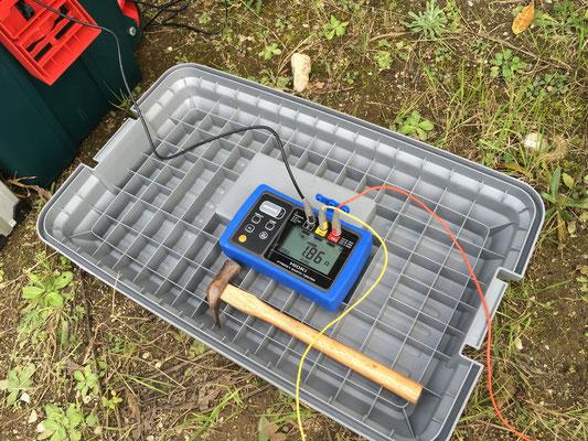 第一発電所、接地抵抗測定