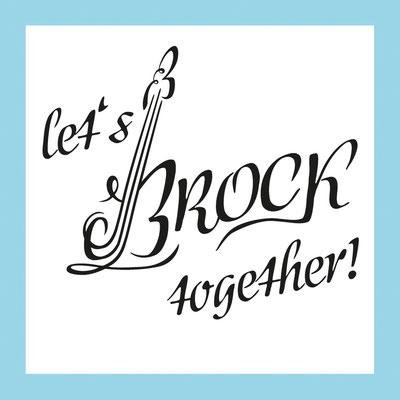 Let's Brock together | Hochzeitsemblem