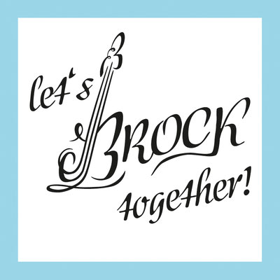 Let's Brock together | Hochzeitsemblem