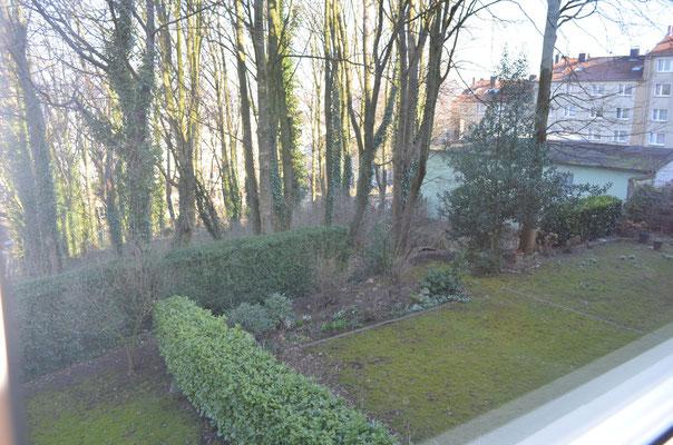 Immobilie in Wuppertal Elberfeld, Eigentumswohung, Blick in den Gemeinschaftsgarten