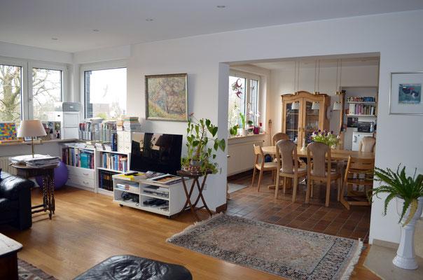 Immobilie in Wülfrath, Bungalow, Reihenmittelhaus, Wohnzimmer