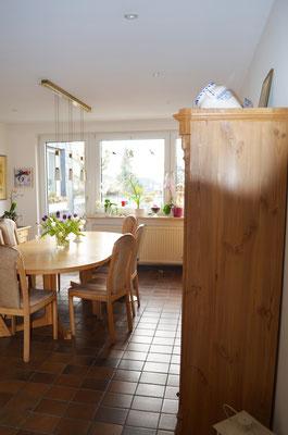 Immobilie in Wülfrath, Bungalow, Reihenmittelhaus, Esszimmer, Blick zur Terasse