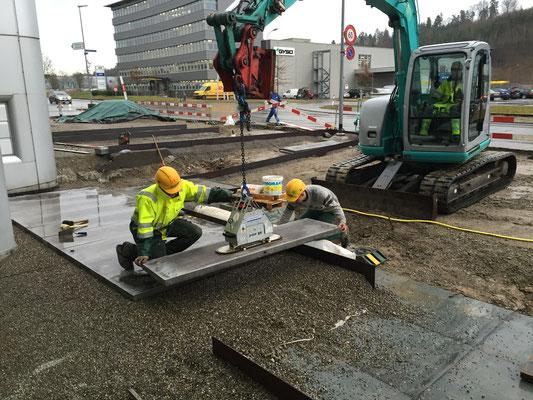 Betonplatten versetzen Eberhard Gartenbau AG Kloten