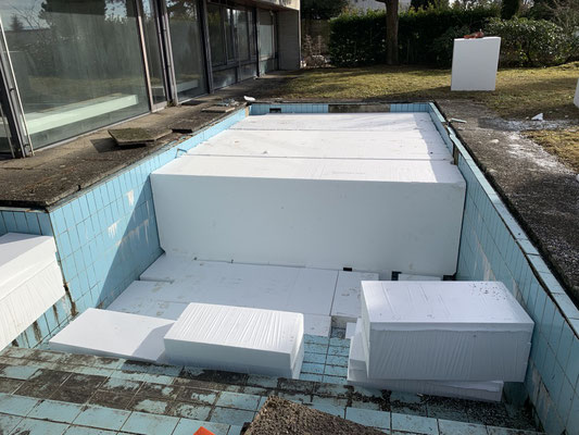 Eberhard Gartenbau AG Kloten, Auffüllung Pool