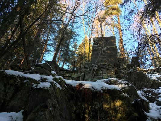 vegg reste etter Tinnsjø koppermine