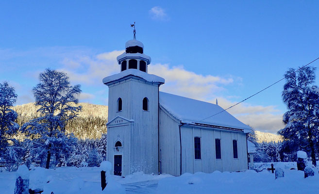 Gransherad kirke vinter