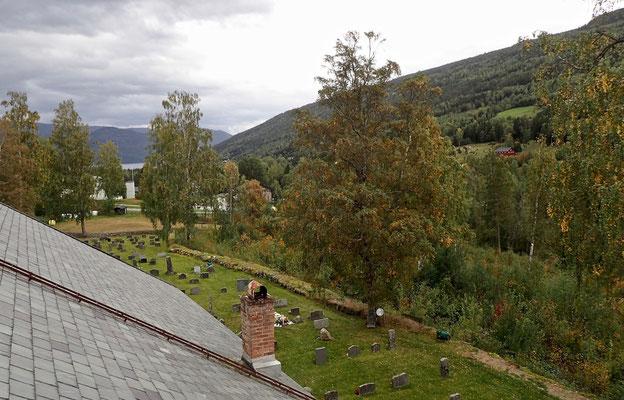 utsikt fra Strå kirketårnet mot Atrå
