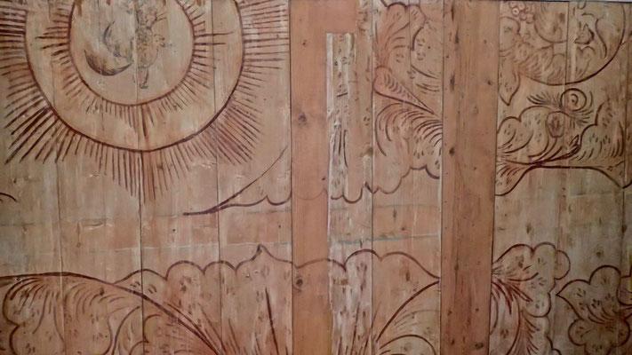 takmaleri over galeriet fra Dal kirke