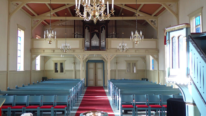orgelgalleriet i Austbygde kirke