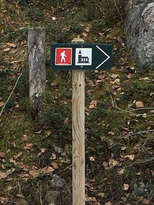 Kvite Kyrkjer Pilgerweg - Hauptmarkierung