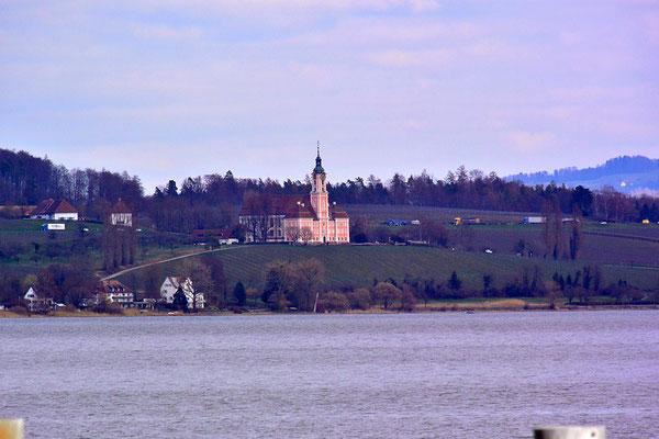 Dingelsdorf から見る Birnau 教会