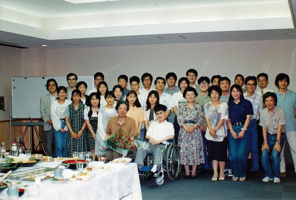 1995年〜97年頃。この頃は1学年に5人ほどの学部学生がいた。最前列左は金子章教授(独文学講座4代目教授)