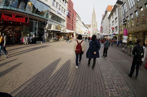 Ulm に戻って市内散策。「相似形」の散歩