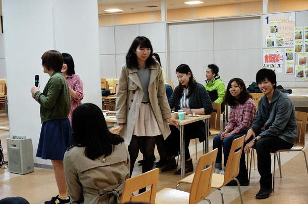 新入生歓迎会(2015年4月)裏方さんたち(進行係)