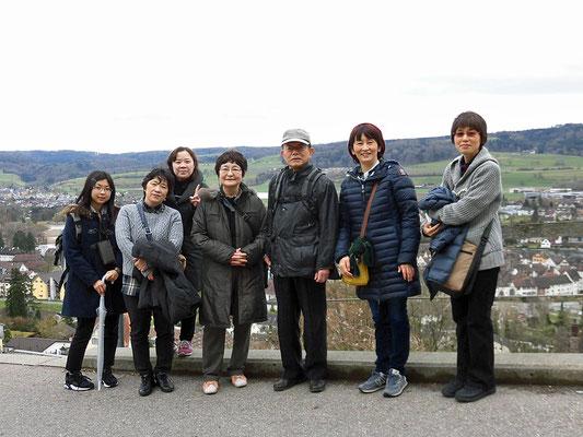 Hohenklingen城に登る(写真提供:MMさん)