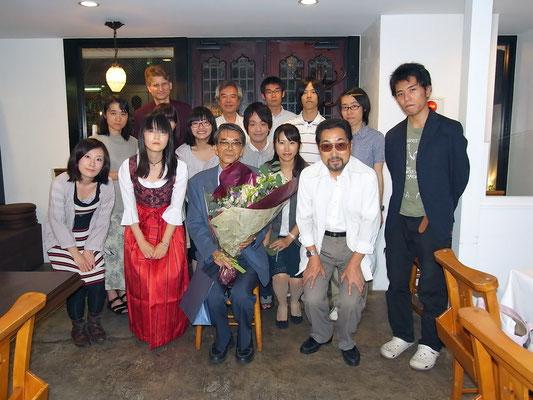 2011年9月。清水純夫教授(ドイツ文学講座5代目教授)退職。送別会