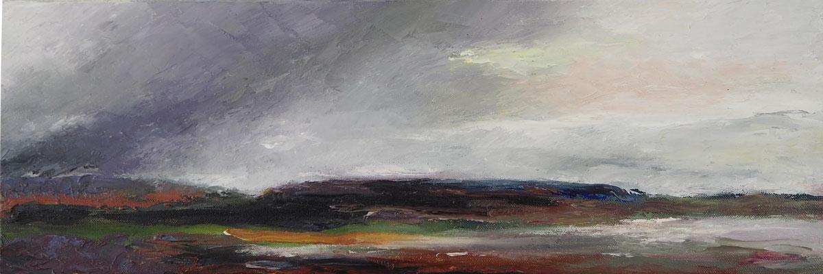 """""""Landship"""" 60x20cms oil & wax on canvas"""""""