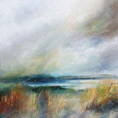"""""""Flinders"""" 50 x 50cms oil & wax on canvas"""