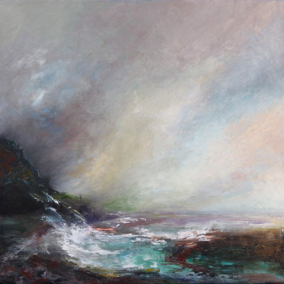 """Ocean Storm"" 50x50 cms oil & wax medium on canvas"
