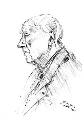 Maurice Papon, accusé de crime contre l'humanité, comparait à la cour d'Assises de Bordeaux