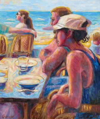 Le soleil à Jaffa - Huile sur toile - 61 x 46 cm