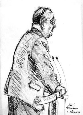 Henri Amouroux, journaliste, témoin défense au procès Papon
