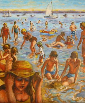 Marée basse  - huile sur toile - 54 x 46 cm