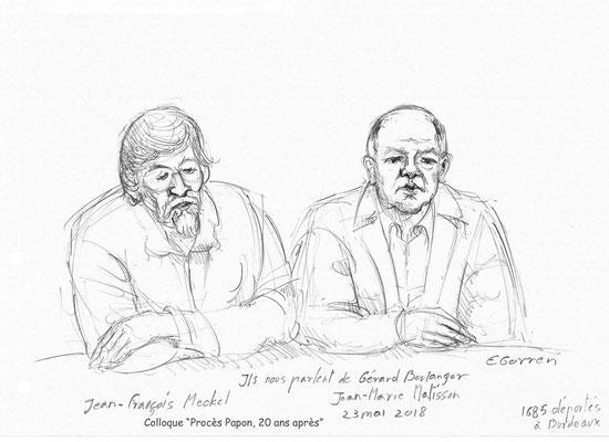 """Jean-François Meekel et Jean-Marie Matisson - Colloque """"Procès Papon, vingt ans après"""""""