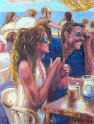Les fous rires de Jaffa  Huile sur toile - 60 x 55 cm