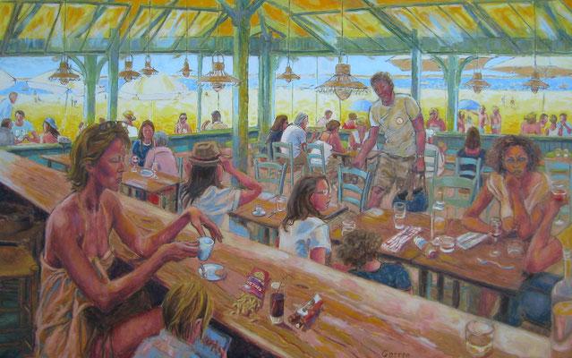 Club Pereire, Arcachon - 130 x 81 cm - huile sur toile